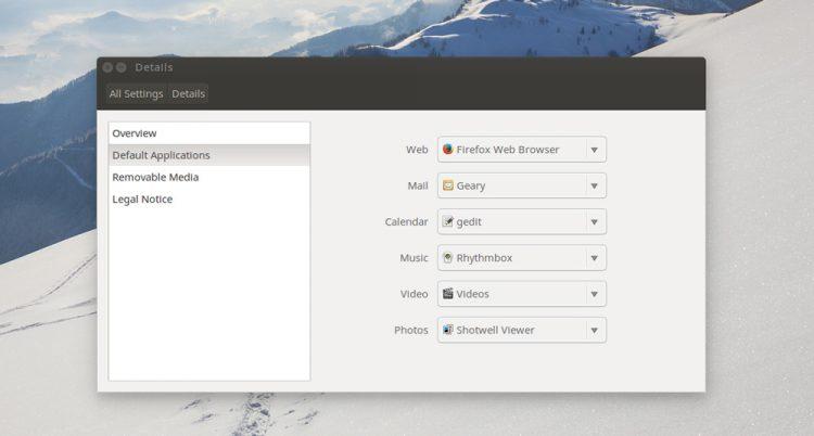 ubuntu system settings details