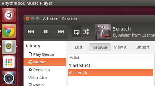 rhythmbox in ubuntu 15.04