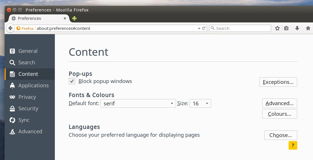 Firefox 38 Features Tabbed Preferences, Responsive Images