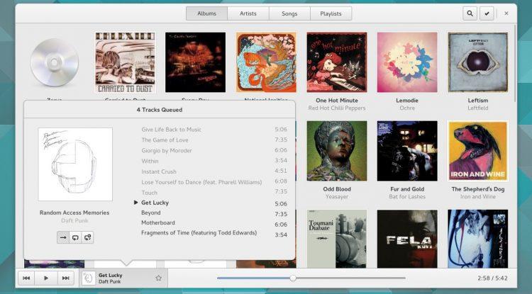 gnome music 3 18