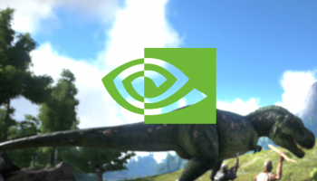 Nvidia Logo overlaid on a Dinosaur