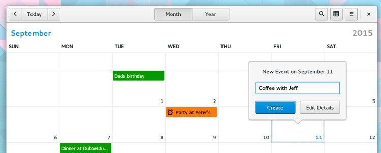 gnome-calendário-app