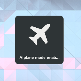GNOME Airplane enable notification