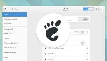 gnome logo over settings app