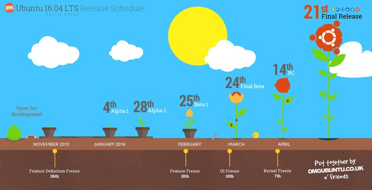 Xerox Release Schedule Graphic