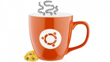 ubuntu mug and biscuit