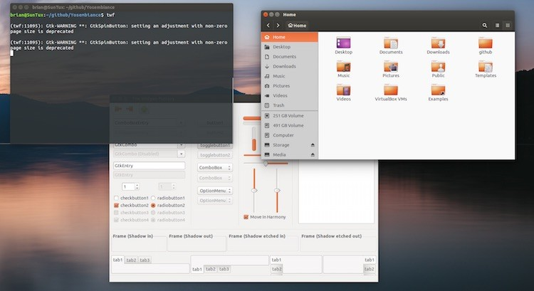 yosembiance gtk theme