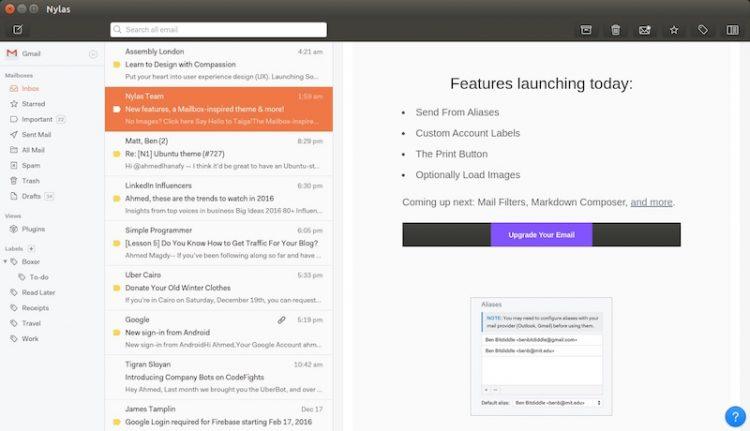 Nylas N1 Ubuntu Theme