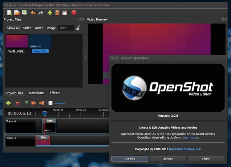 openshot 2.0.6 beta