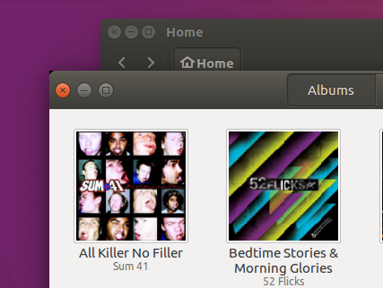 black triangles on gnome apps in ubuntu