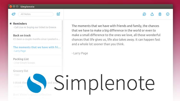Simplenote, the popular note-taking app, is now available as