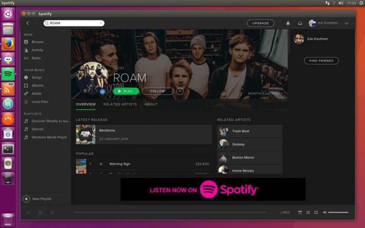 New Spotify client on Linux
