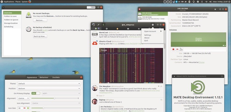 ubuntu mate 16.04 running gnome apps