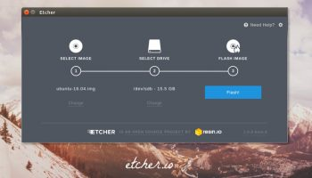 etcher disk burning app ubuntu
