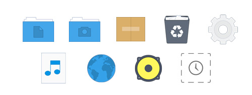arc icon set for linux desktops