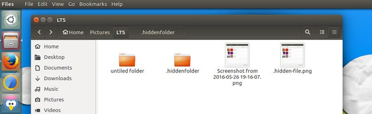 view hidden files in nautilus
