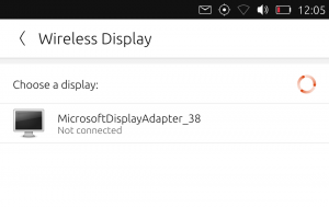 Wireless display settings