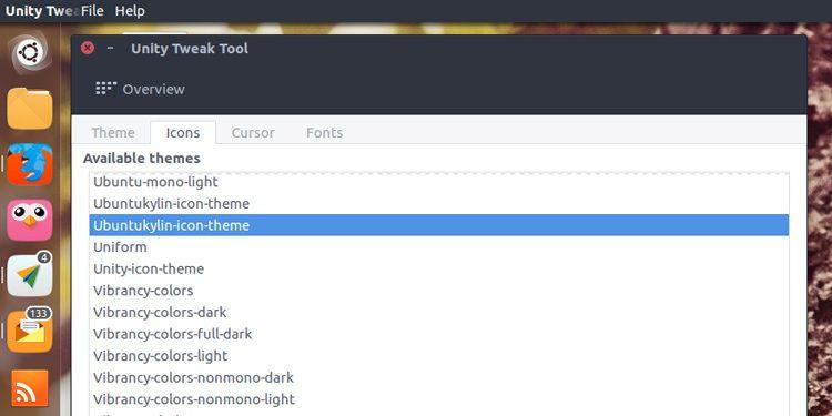 Unity Tweak Tool Icon Section