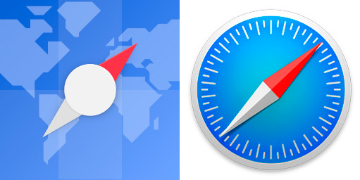 ubuntu web browser icon compared to the safari icon