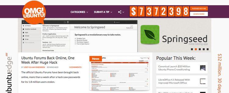 omgubuntu website
