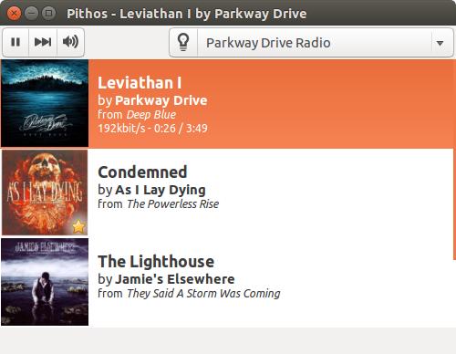pithos pandora radio app for linux