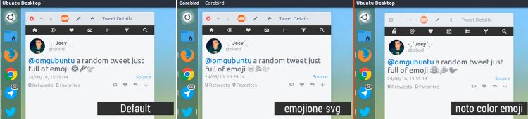 emoji in gtk linux apps