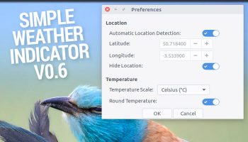 simple weather indicator settings