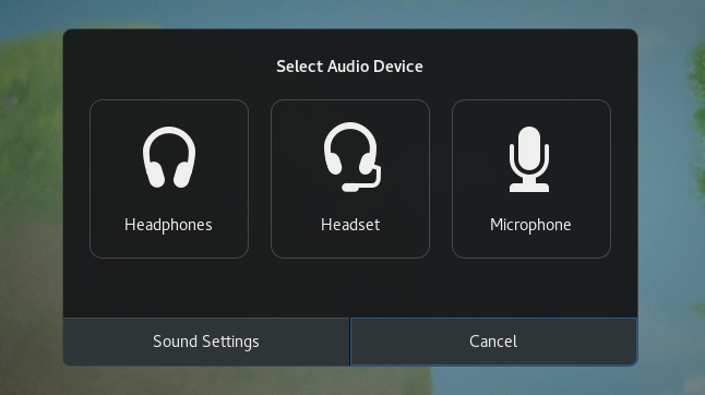 Unknown Audio Device Dialog