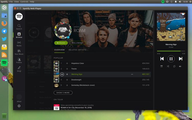 Spotifiy Webplayer
