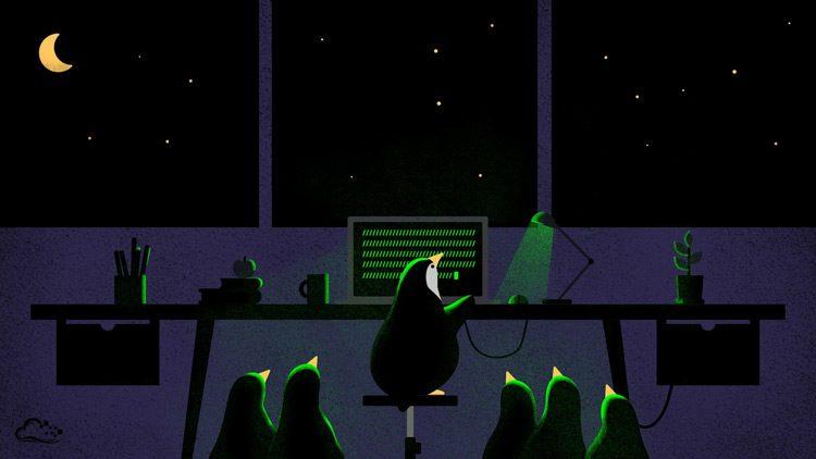 penguin linux wallpaper