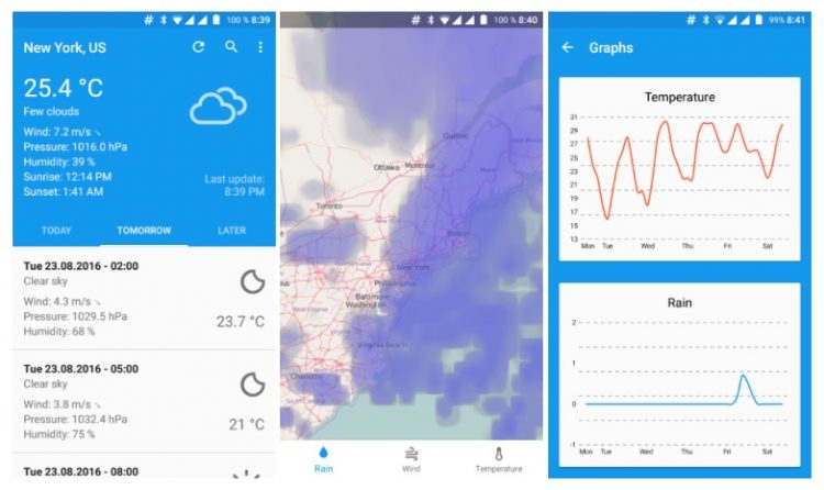 forecastie weather app for android