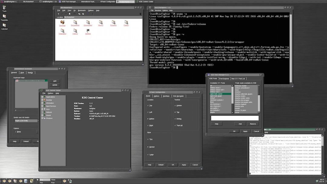 kde 1.1.2 on linux 4.8 in 2016