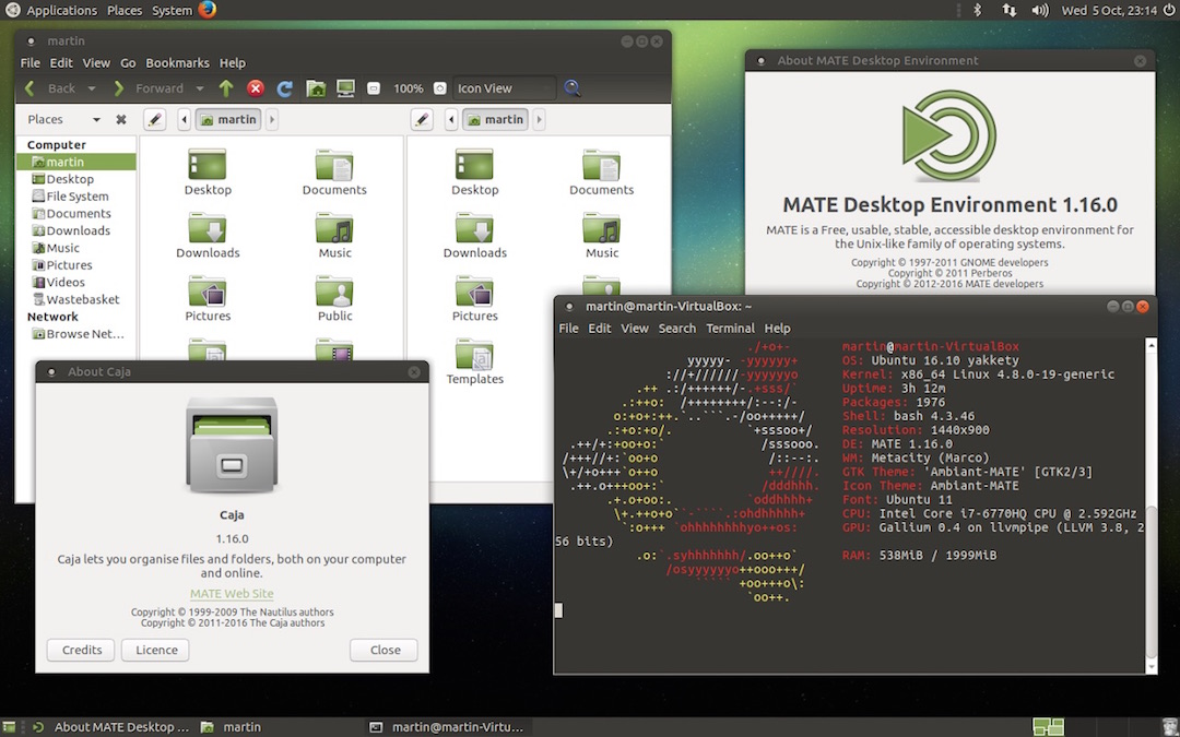 How to Install Mate Desktop in Ubuntu 16.04/16.10 and Fedora 22-24 Workstations