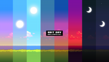 8bit day wallpaper