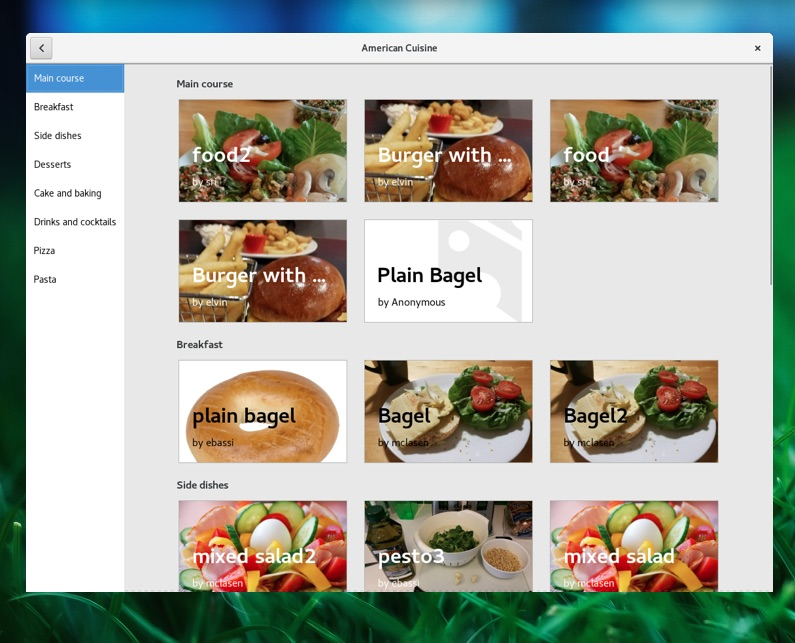 Yum gnome recipes is a new cooking app for linux omg ubuntu gnome recipes application for linux desktops forumfinder Gallery
