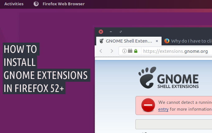 How to Install GNOME Shell Extensions with Firefox & Chrome - OMG