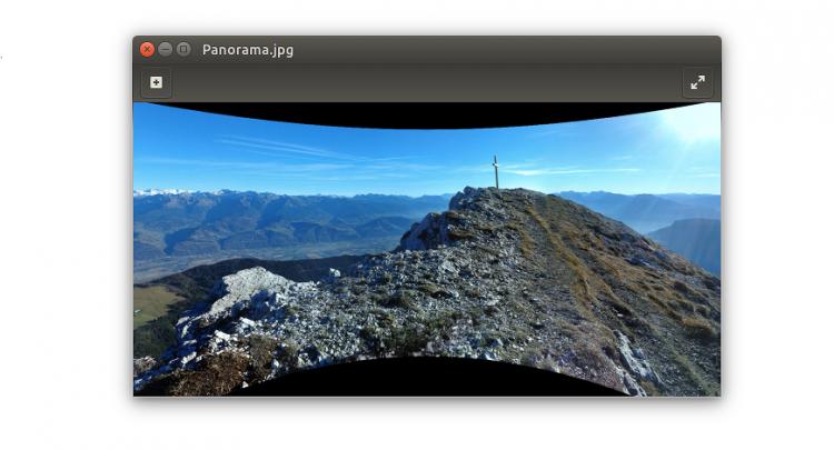 google panorama image viewer ubuntu
