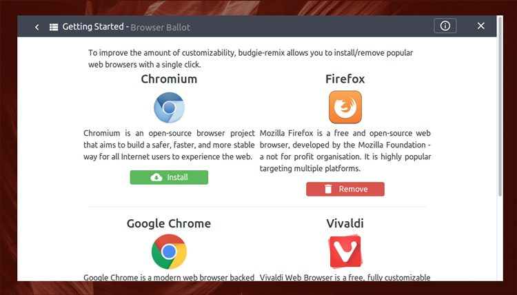 budgie browser ballot screenshot
