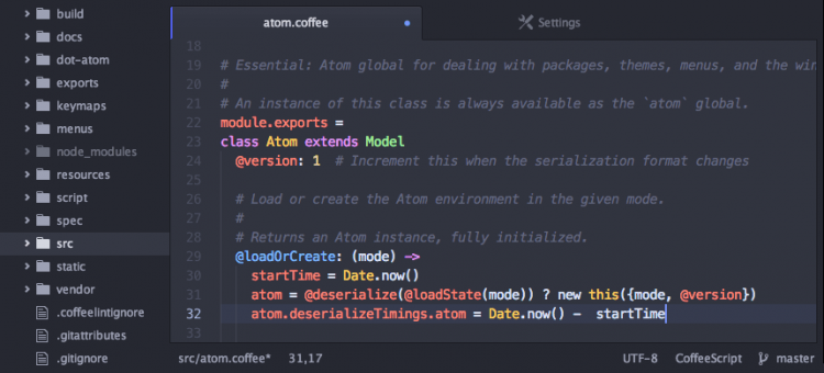 atom text editor screenshot
