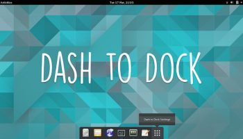 dash to dock screenshot