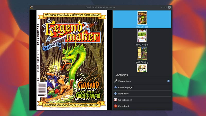 Peruse Is a Neat Comic Book Reader for KDE Desktops - OMG