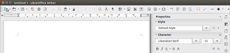 "The ""Sidebar"" Toolbar Layout in Libreoffice"