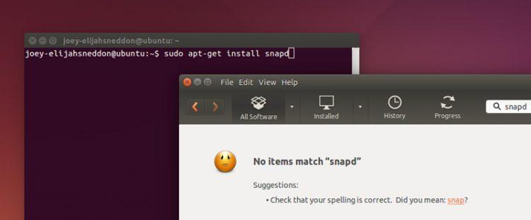 snaps on ubuntu 14.04