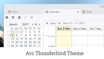 arc theme for thunderbird
