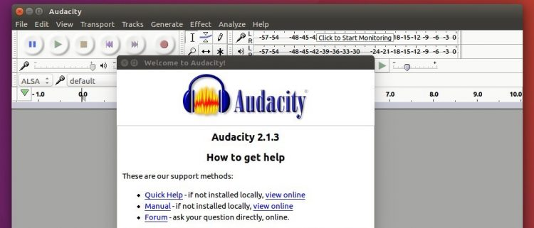 audacity on ubuntu