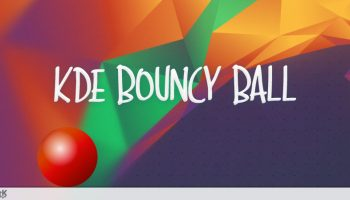 KDE bouncing ball