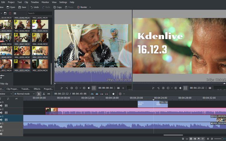 kdenlive 16.12.3 screenshot