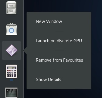 launch app on discrete gpu