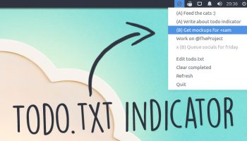 todo.txt indicator applet running on Ubuntu