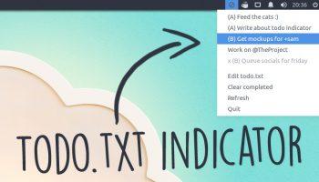 todo.txt indicator applet running on Ubuntu